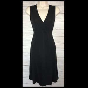 Eddie Bauer Sleeveless Faux Wrap Silky Dress